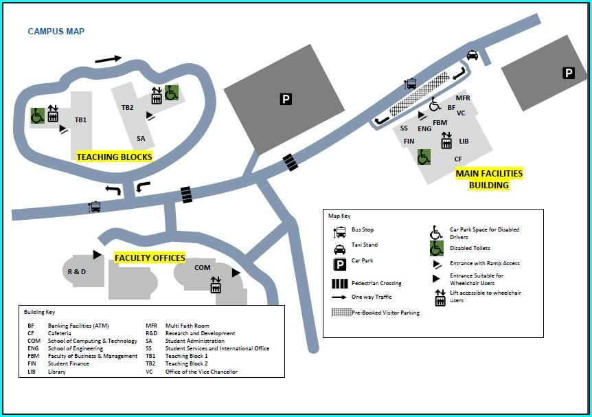 Apu West Campus Map