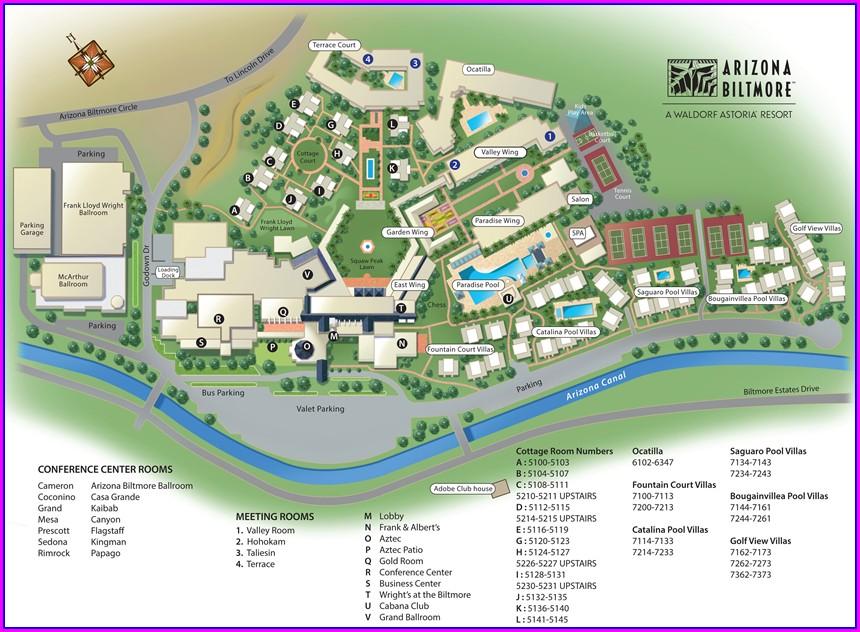 Arizona Biltmore Property Map