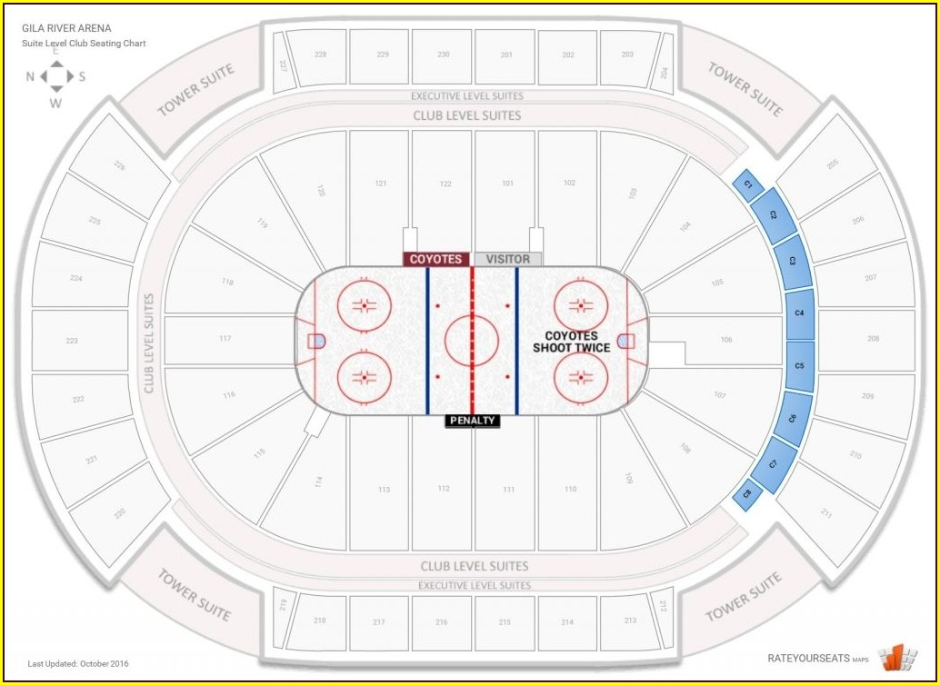 Arizona Coyotes Seating Map