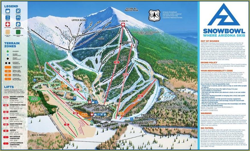 Arizona Snowbowl Trail Map