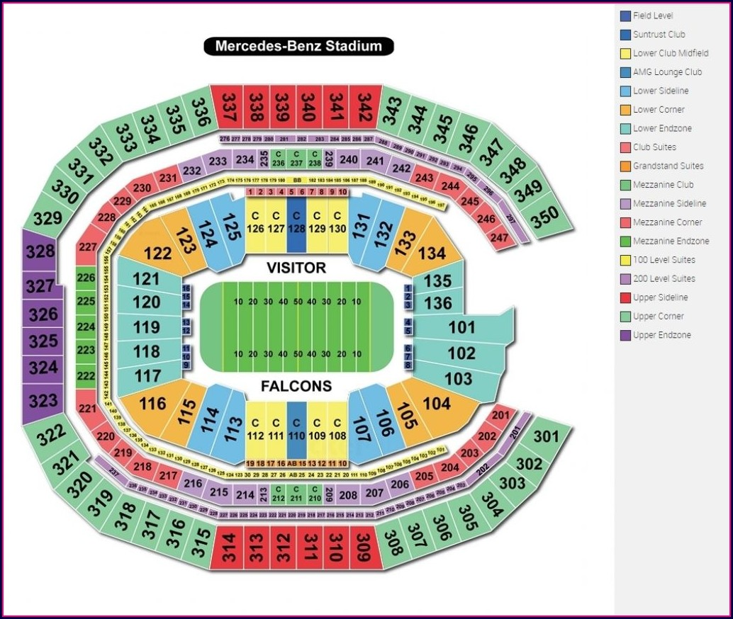 Atlanta United Seat Map
