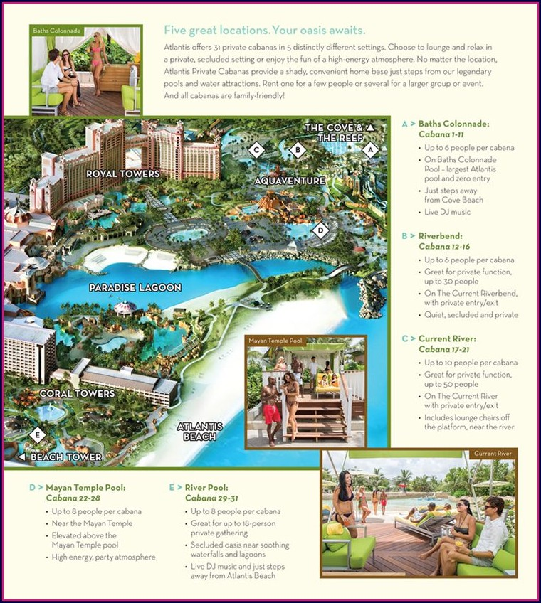 Atlantis Bahamas Water Park Map