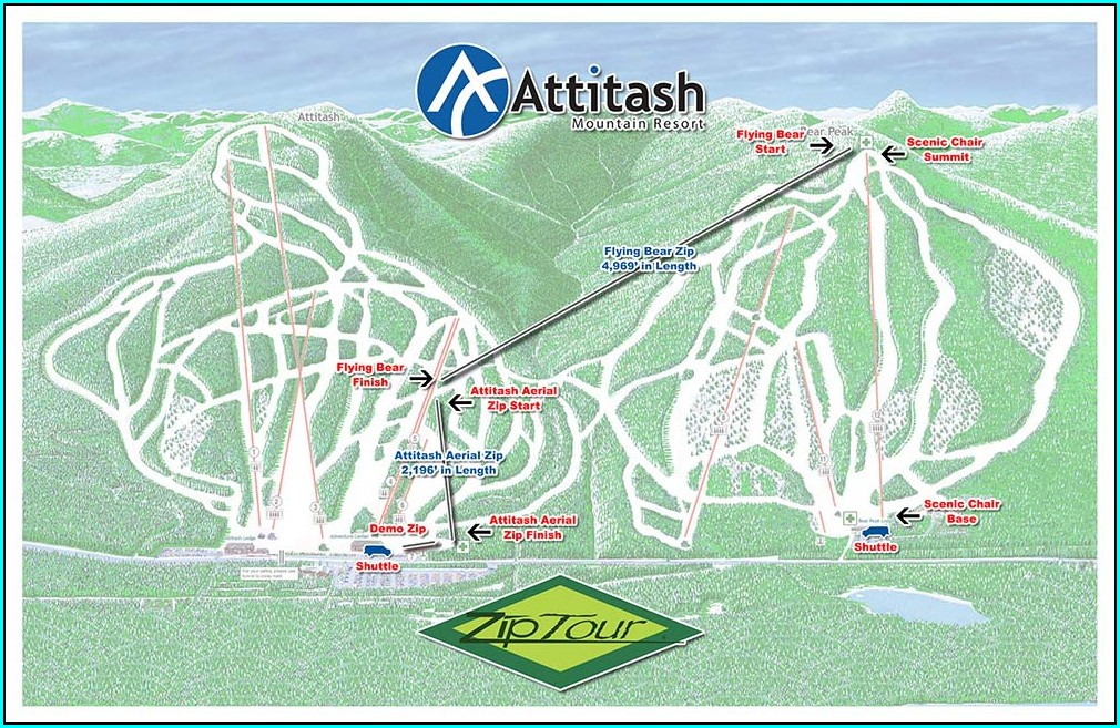 Attitash Mountain Village Resort Map