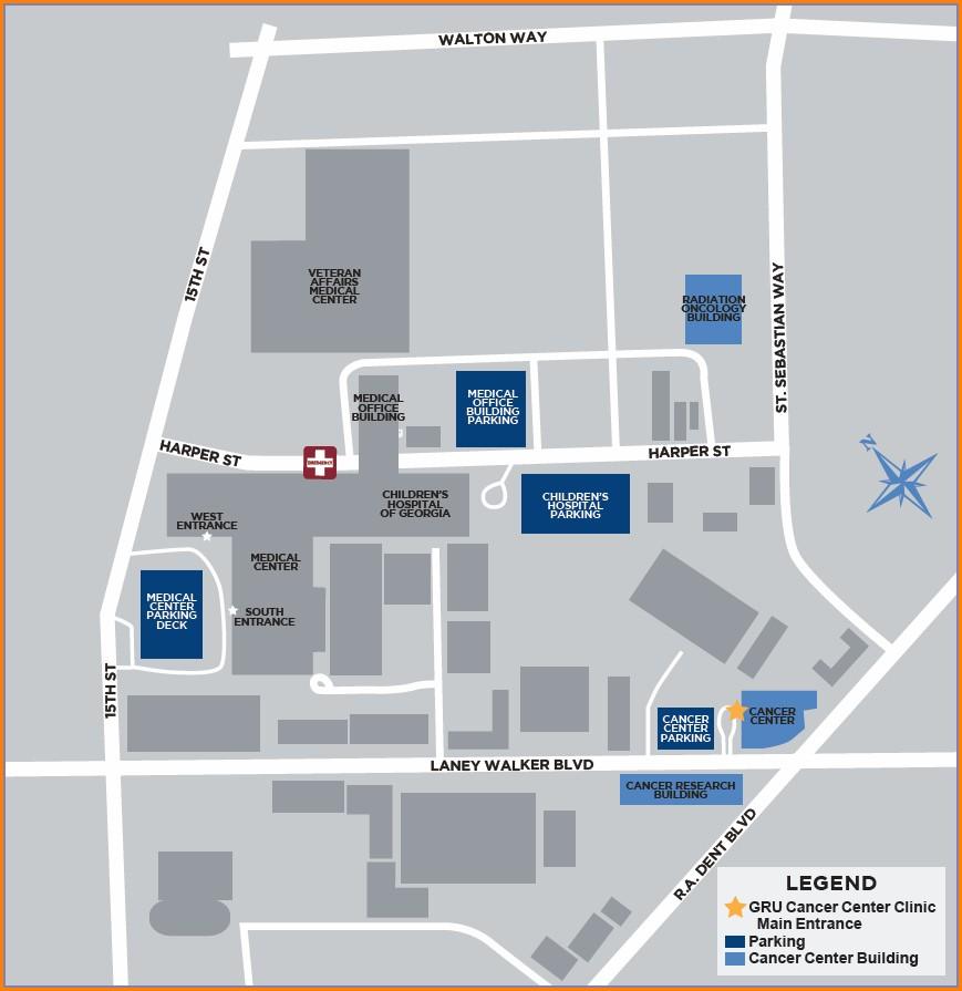 Augusta University Hospital Map