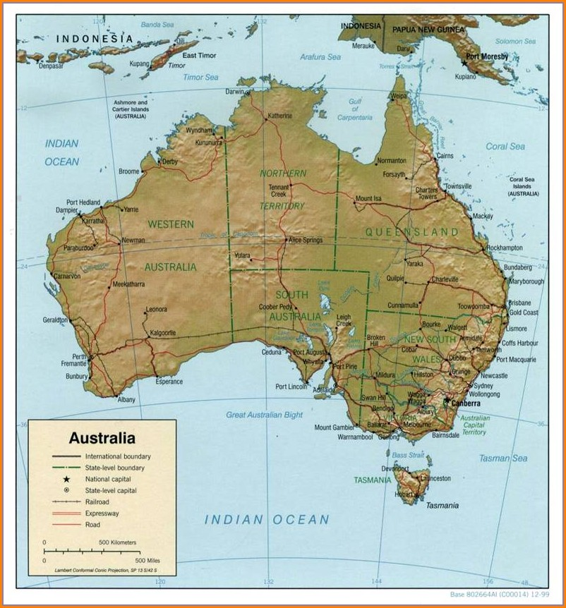Australia Map Latitude And Longitude Lines
