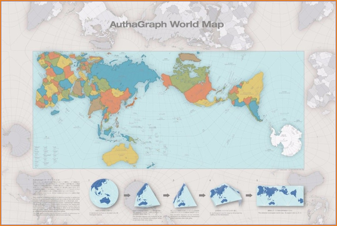 Authagraph World Map Wallpaper