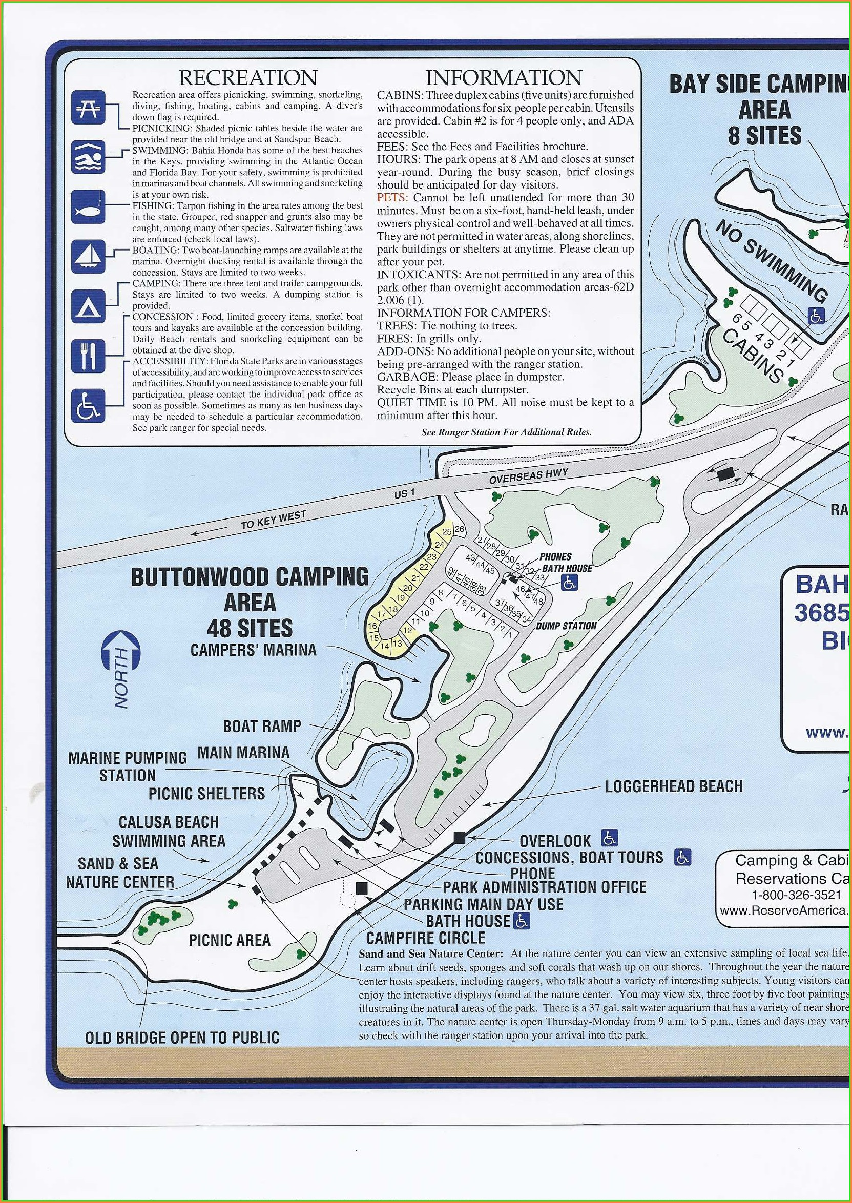 Bahia Honda State Park Campground Map