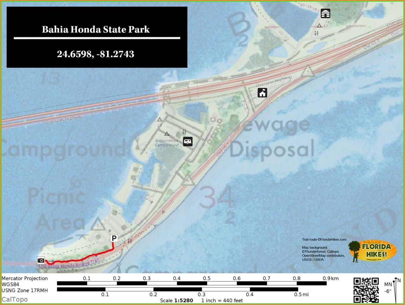 Bahia Honda State Park Site Map