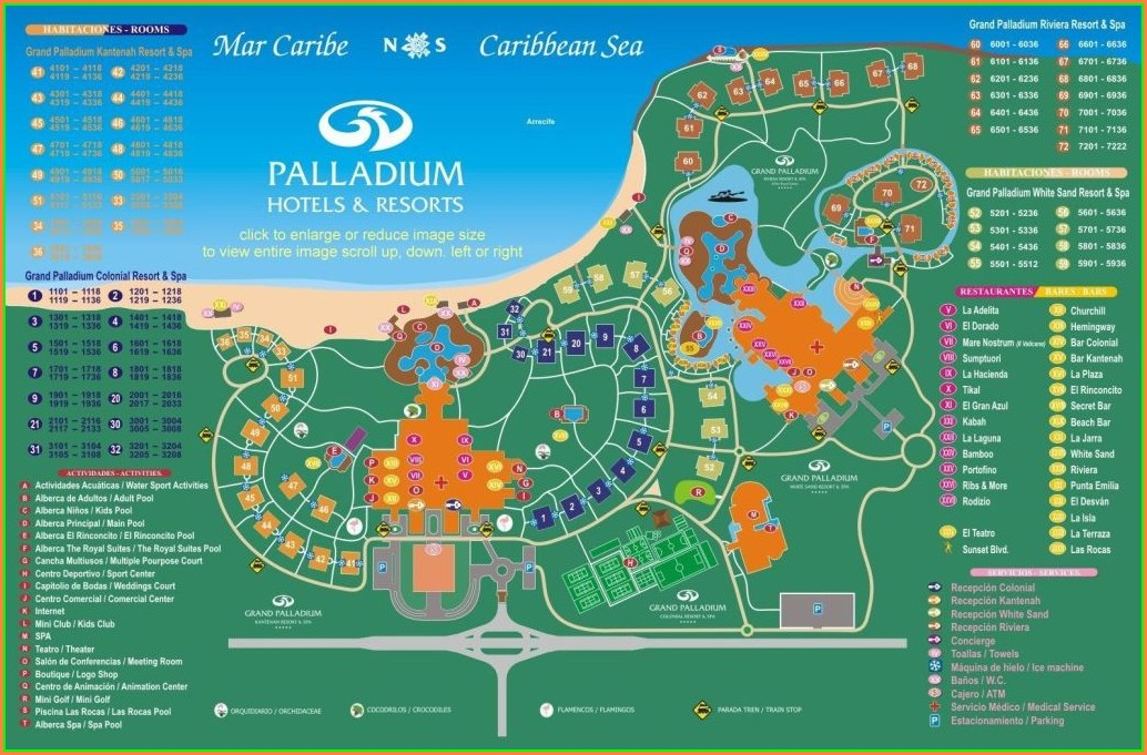 Barcelo Maya Beach Resort Map