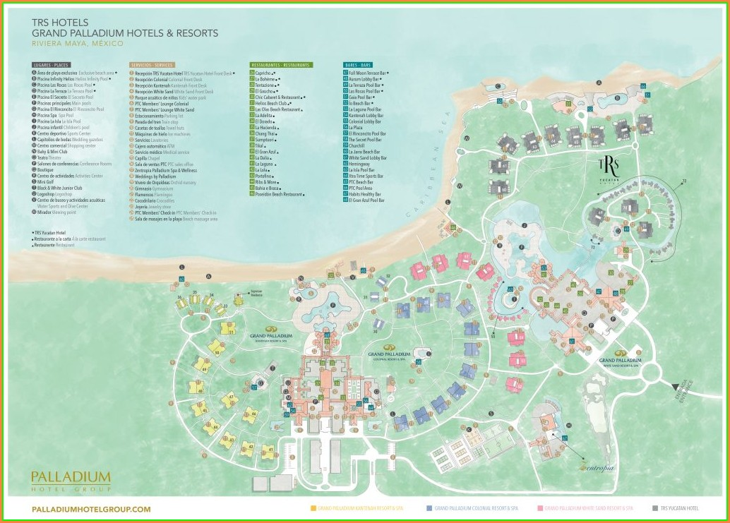 Barcelo Maya Grand Resort Map 2019