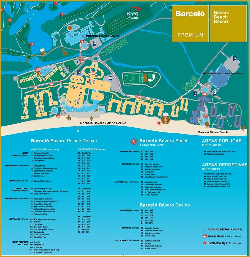 Barcelo Maya Grand Resort Map Pdf