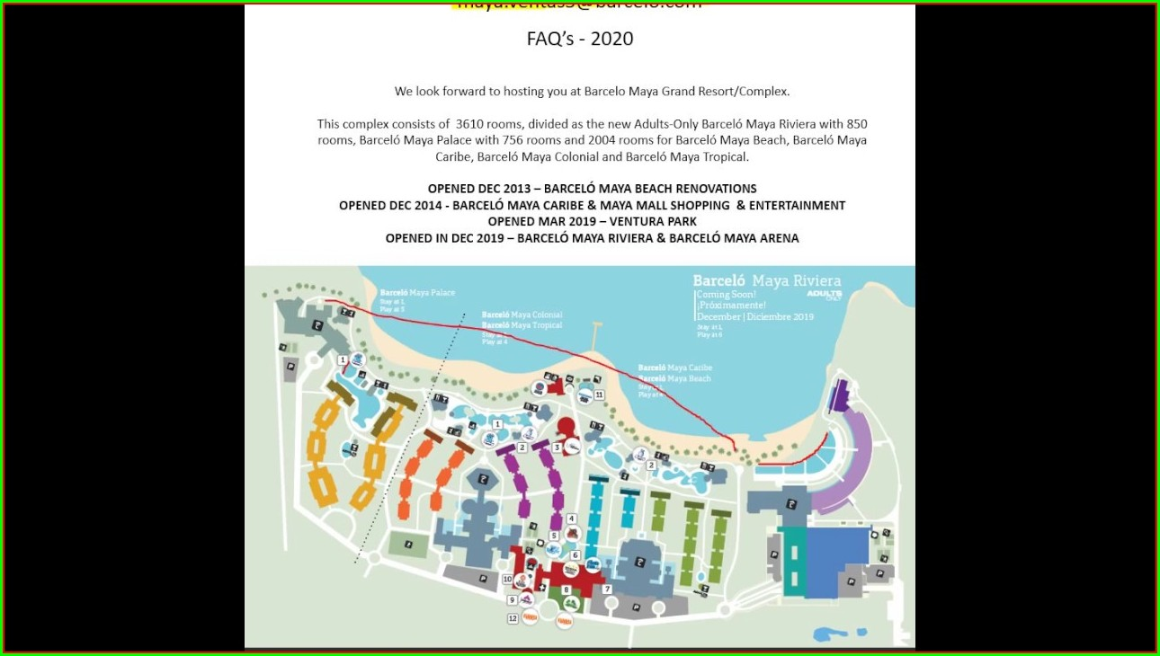 Barcelo Maya Grand Resort Map
