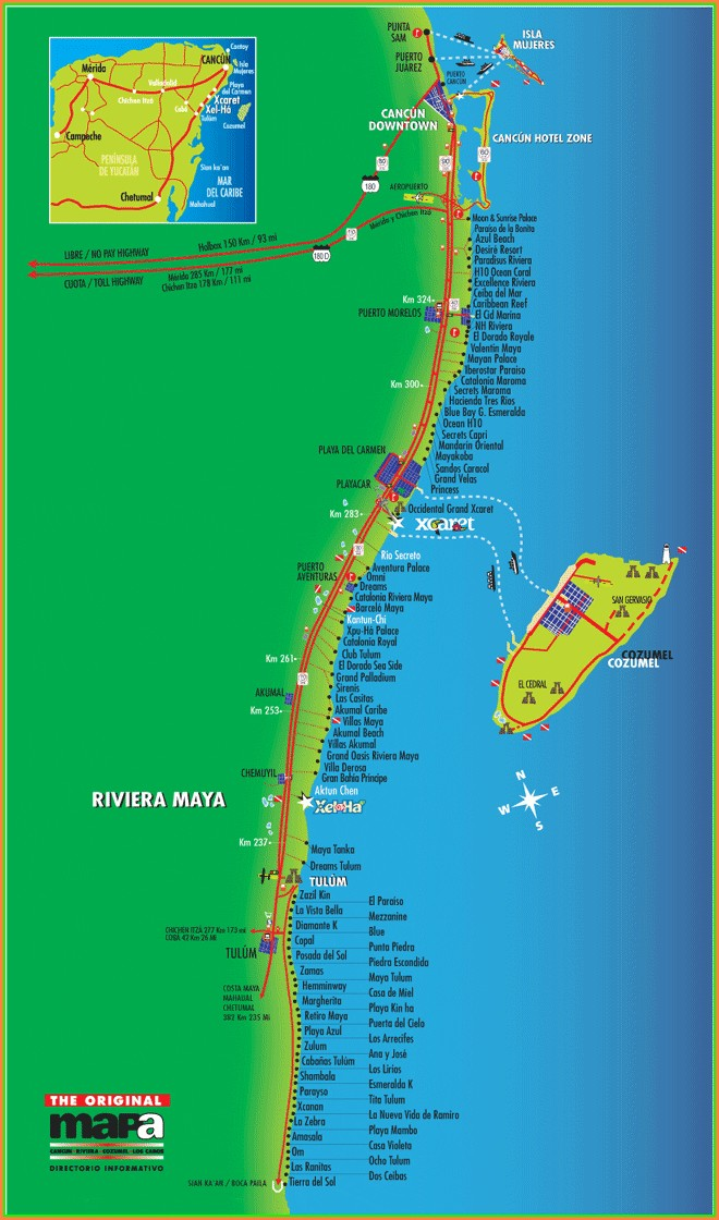 Barcelo Maya Resort Map 2018
