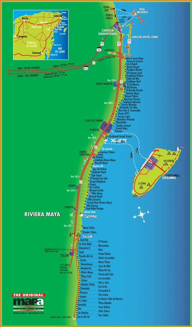 Barcelo Maya Resort Map 2018