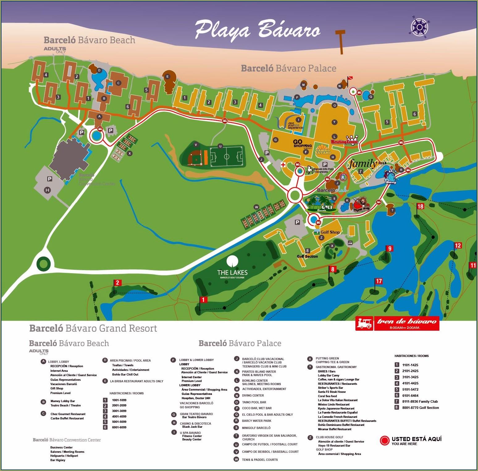 Barcelo Riviera Maya Map Pdf