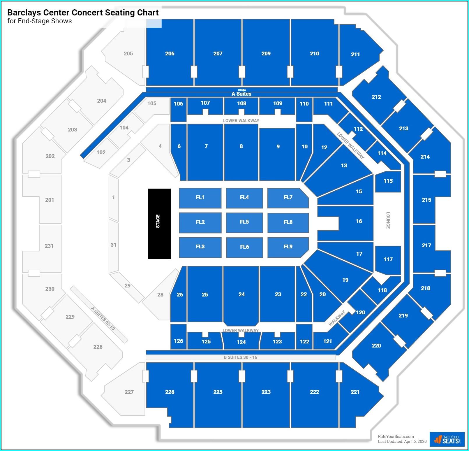 Barclays Center Suite Map