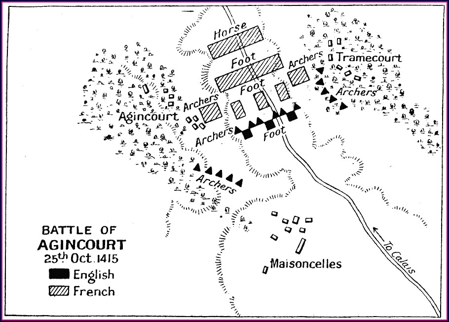 Battle Of Agincourt Map
