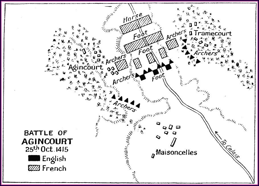 Battle Of Agincourt Map