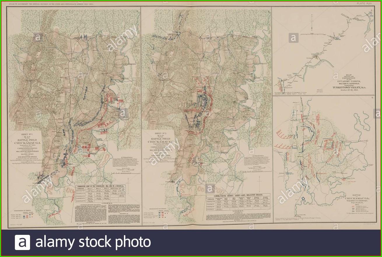 Battle Of Chickamauga Map