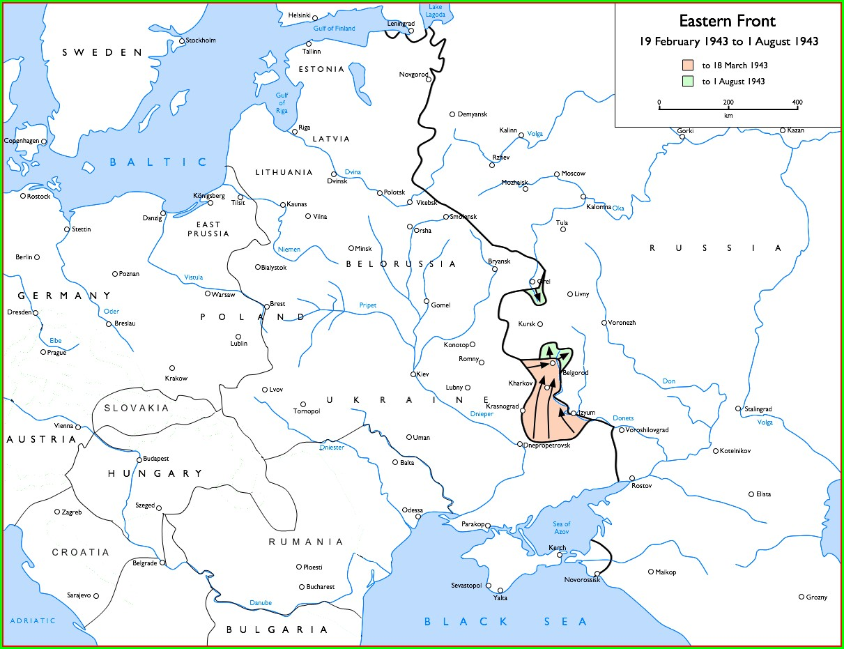 Battle Of Kursk Map