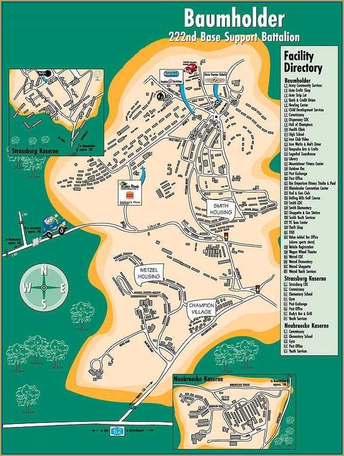 Baumholder Germany Army Base Map