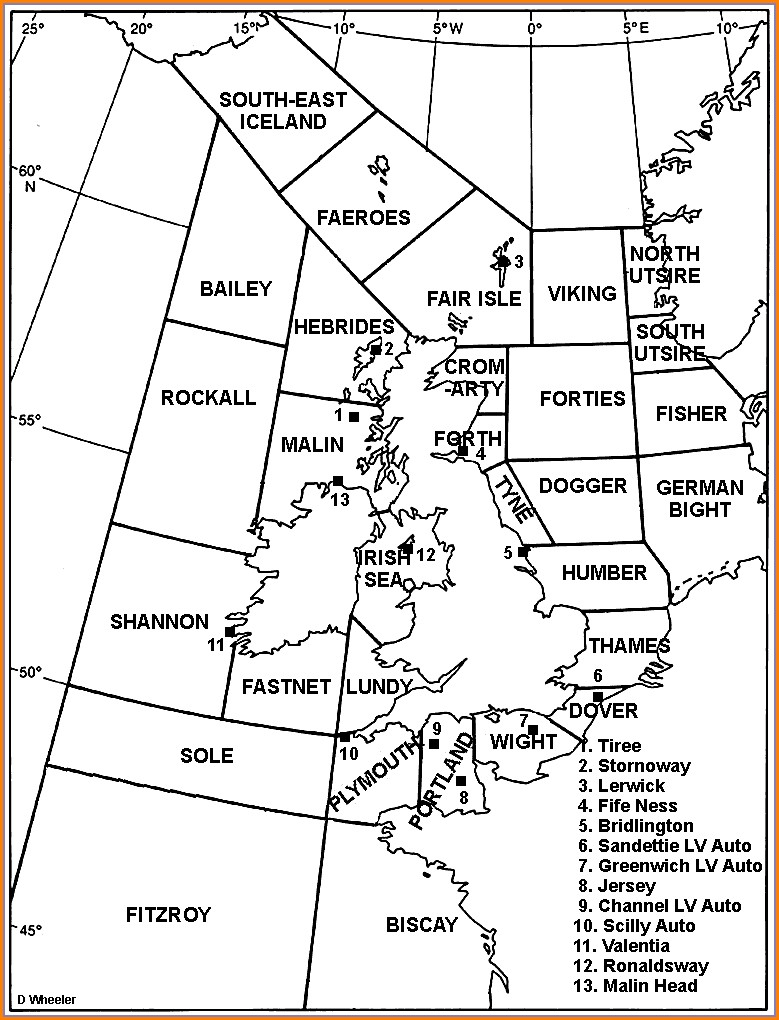 Bbc Shipping Forecast Inshore Waters Map