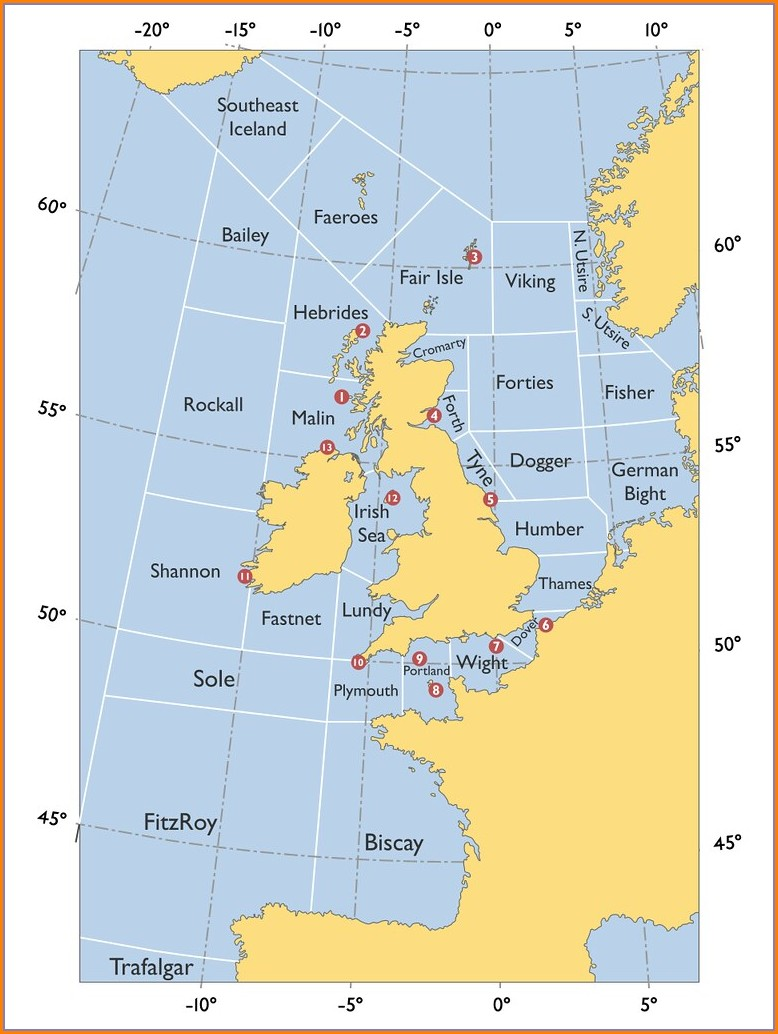 Bbc Shipping Forecast Map
