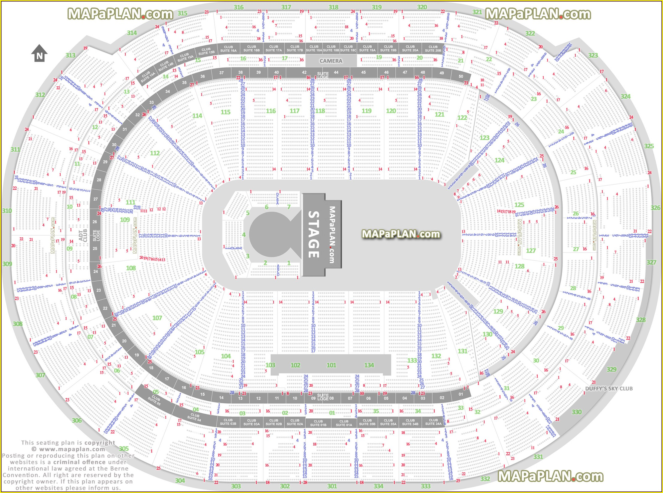 Bbt Center Seat Map