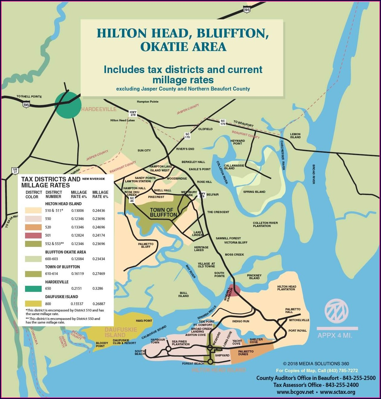 Beaufort County Tax Map Number