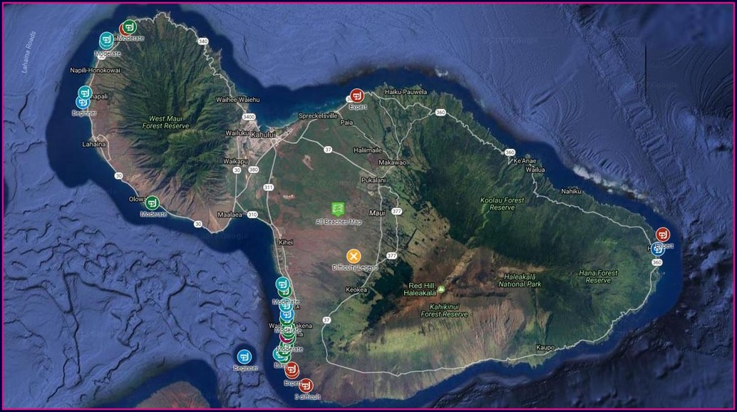 Best Snorkeling In Maui Map
