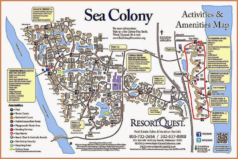 Bethany Beach Communities Map