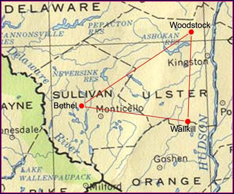 Bethel Ny Woodstock Map