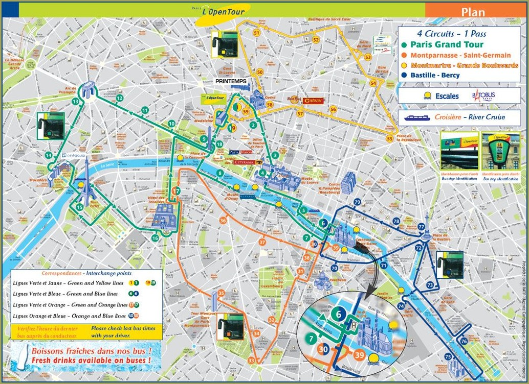 Big Bus Paris Mapa