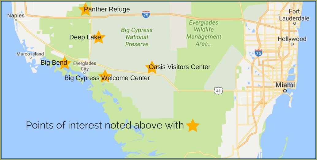 Big Cypress National Preserve Map