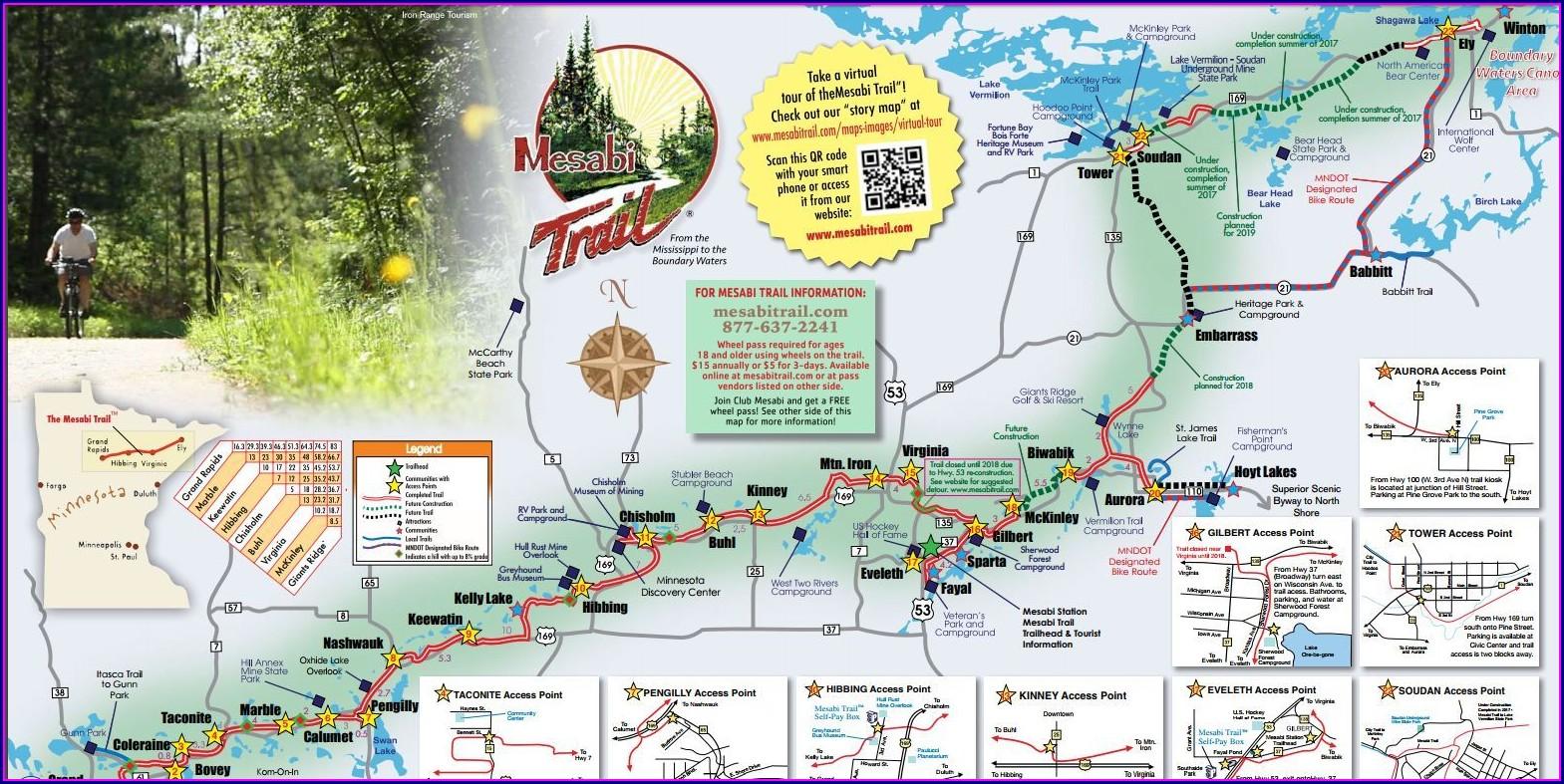 Bike Trail Mesabi Trail Map