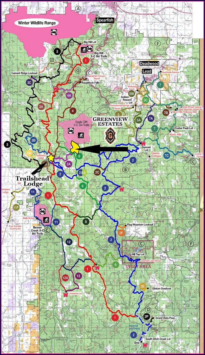 Black Hills Snowmobile Trail Map