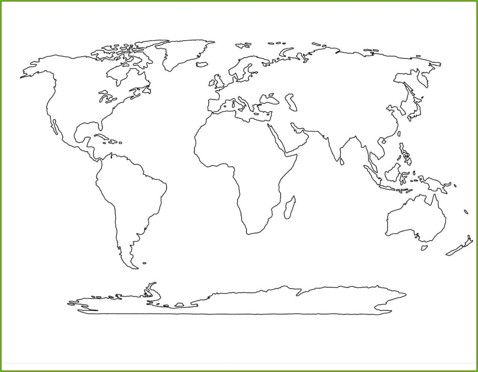 Blank Large Printable World Map Pdf