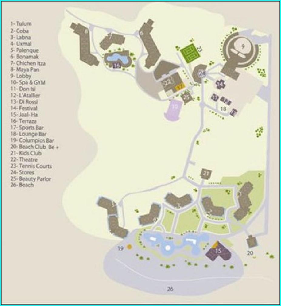 Blue Bay Esmeralda Resort Map