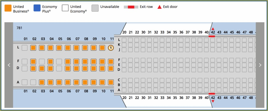 Boeing 787 10 Dreamliner United Seat Map
