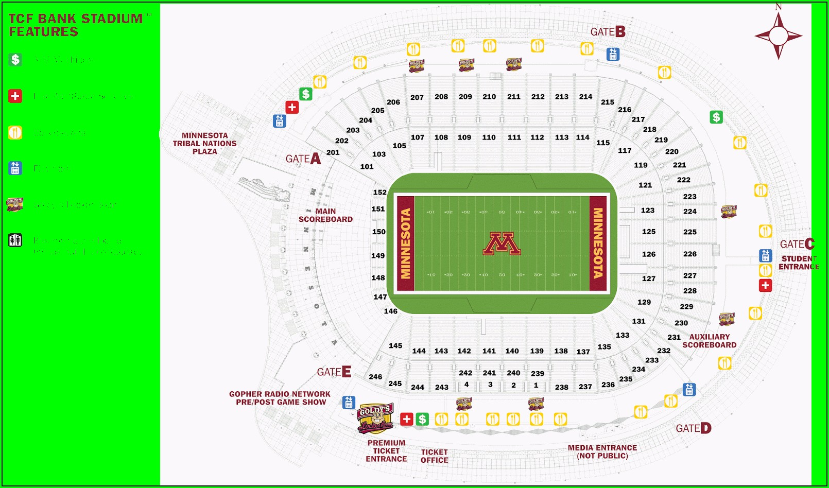 Boone Pickens Stadium Seating Map