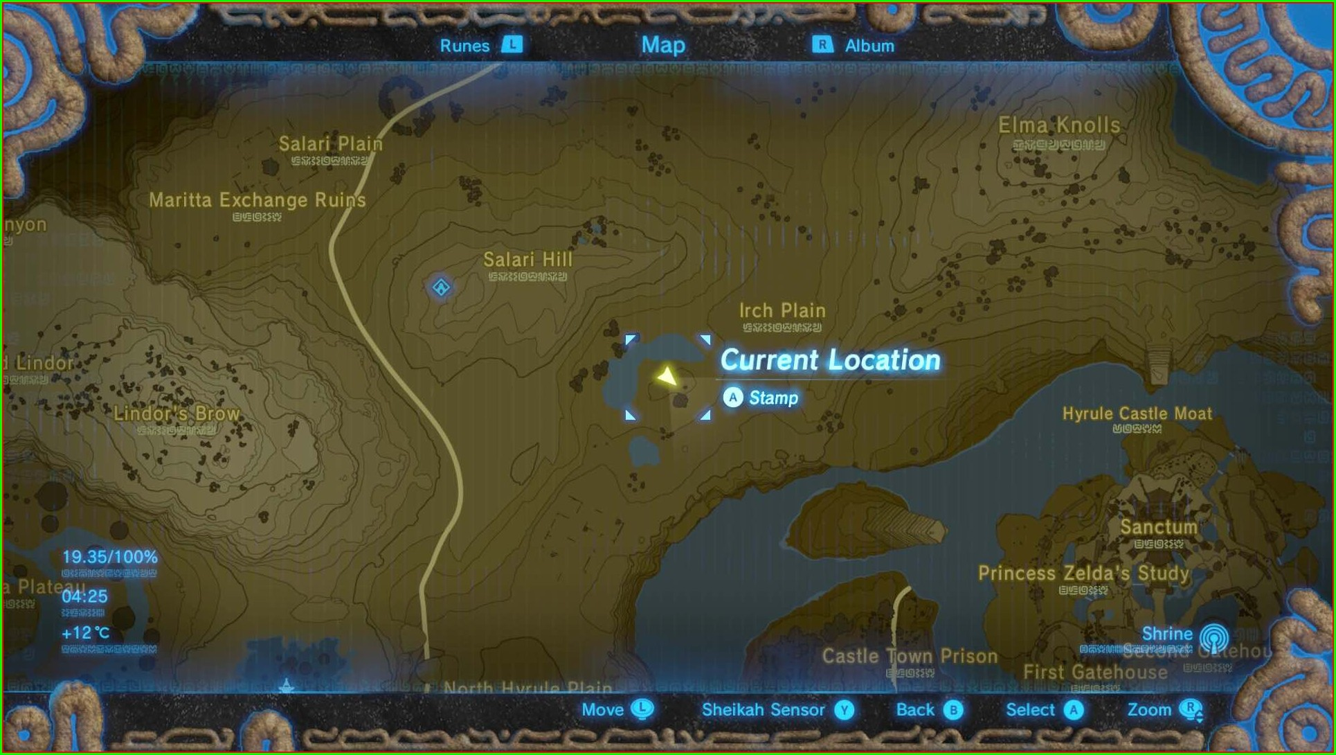 Botw All Memory Locations Map