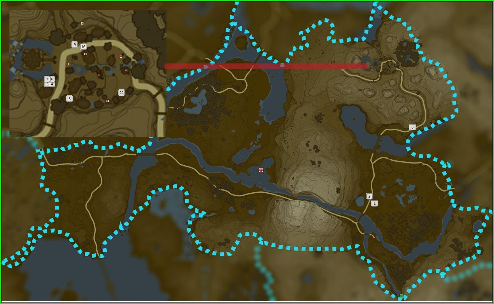 Botw Korok Seeds Map Dueling Peaks