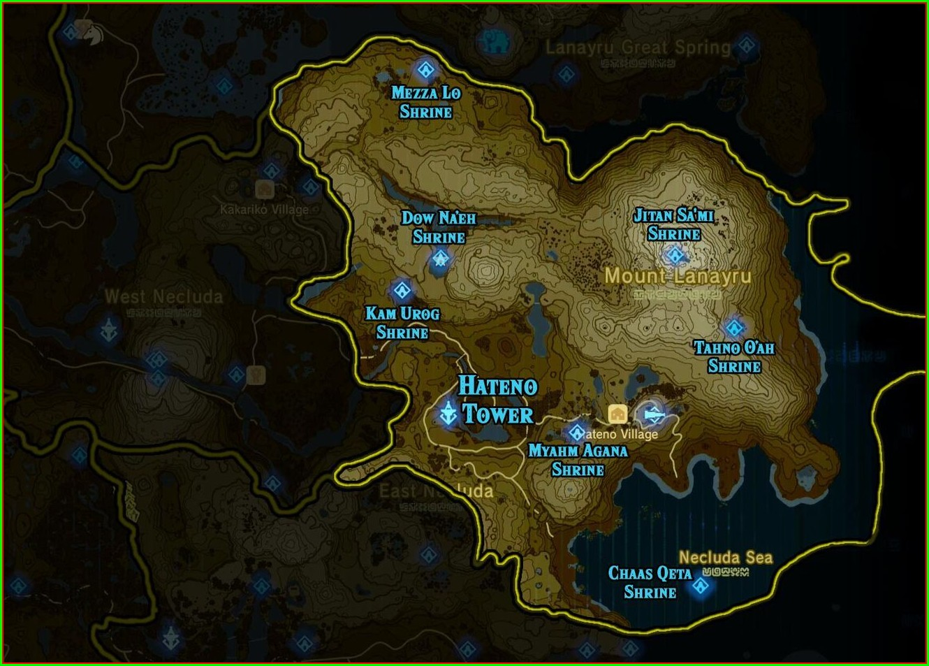 Botw Lynel Locations Map Polygon