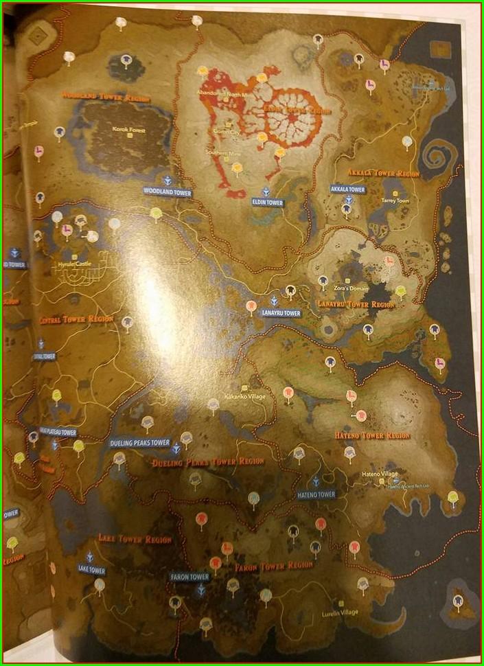 Botw Rare Talus Locations Map