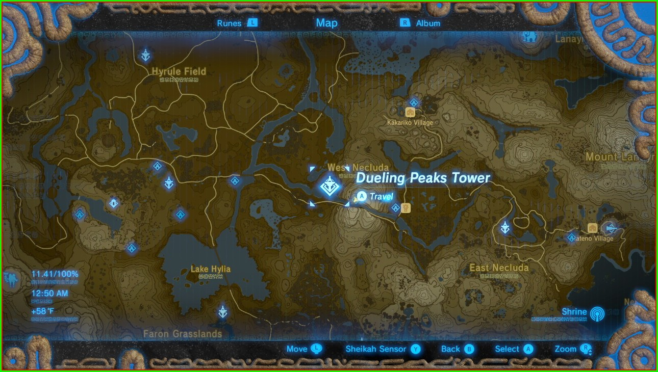 Botw Tower Locations Map
