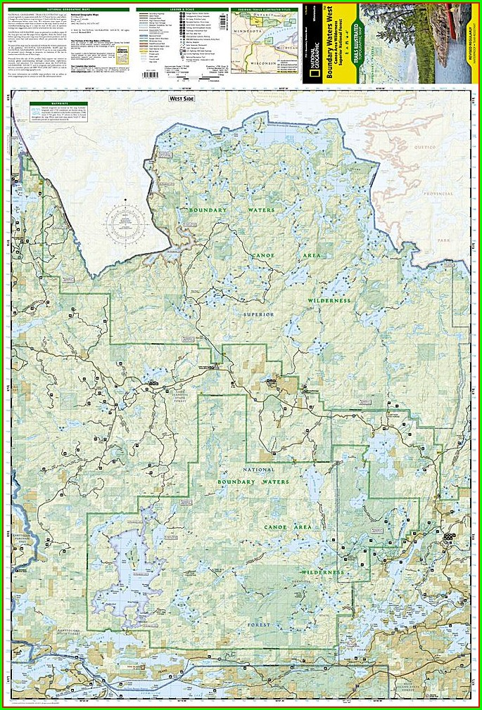 Boundary Waters Canoe Area Mn Map