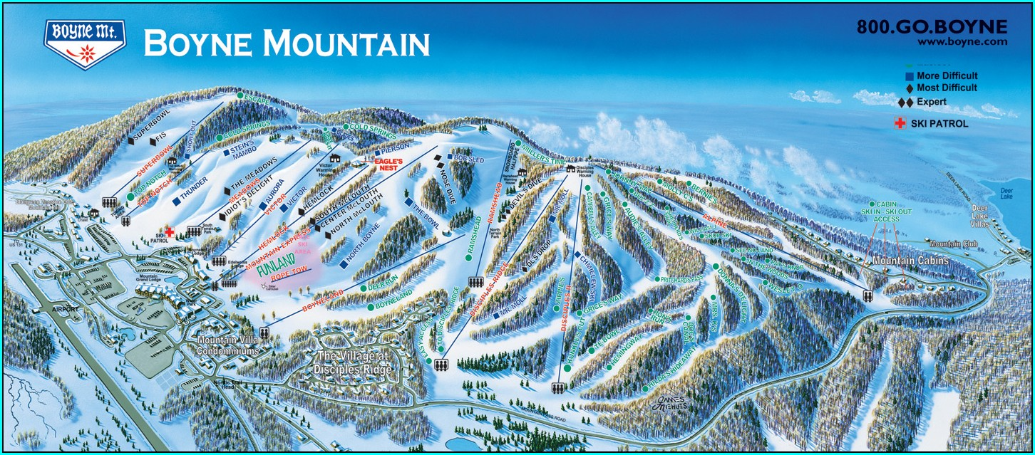 Boyne Highlands Lodging Map