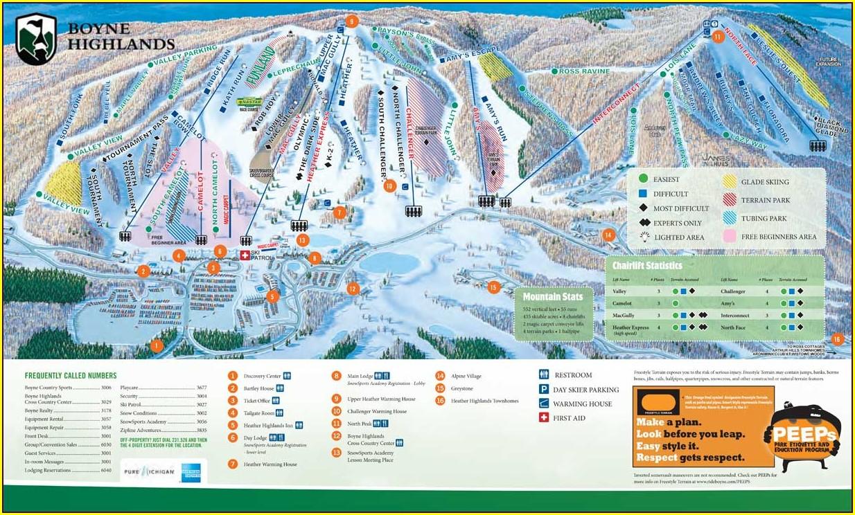 Boyne Highlands Resort Map