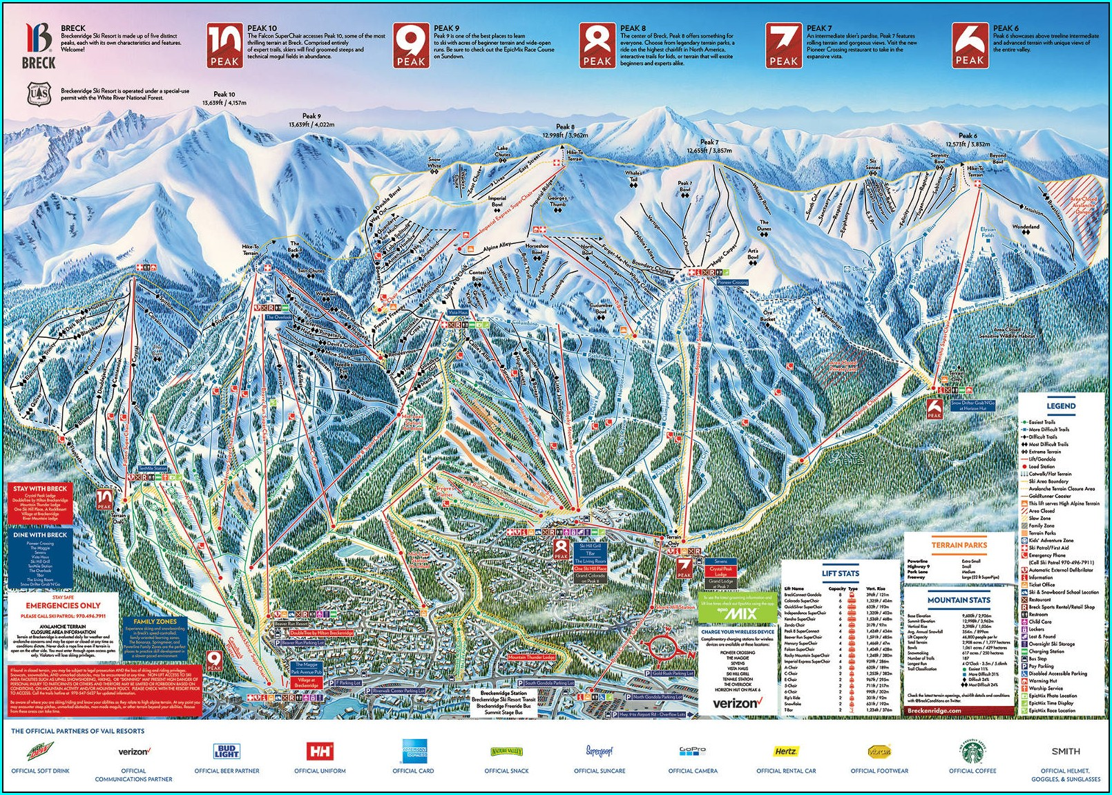 Breck Free Ride Winter Map