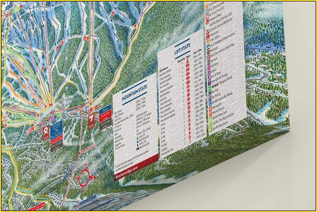 Breckenridge Trail Map Poster